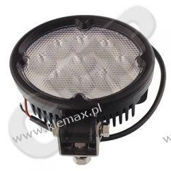 LAMPA ROBOCZA LEDOWA OWALNA, 9 LED 10-30V, 9x3W CREE LED, 148x117mm,