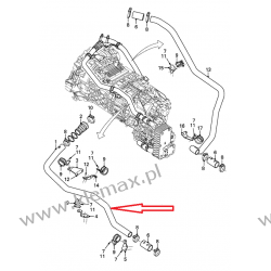 PRZEWÓD WODNY RETARDERA DAF XF105 NOWY TYP 2005- Duże podzespoły