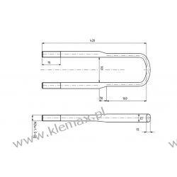 STRZEMIĘ RESORU IVECO EUROTRAKKER M24 x 1,5 x 101 x 420 mm Tarcze