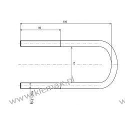 STRZEMIĘ RESORU MERCEDES M12 x 1,5 x 71 x 180 mm Duże podzespoły