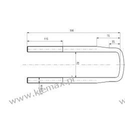 STRZEMIĘ RESORU MERCEDES M18 x 1,5 x 82 x 300 mm Części do maszyn rolniczych