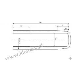 STRZEMIĘ RESORU MERCEDES M20 x 1,5 x 92 x 390 mm Duże podzespoły