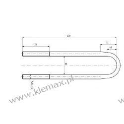 STRZEMIĘ RESORU MERCEDES M20 x 1,5 x 81 x 420 mm Lampy tylne
