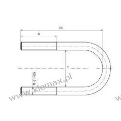 STRZEMIĘ RESORU RVI M20 x 1,5 x 90 x 205 mm Duże podzespoły