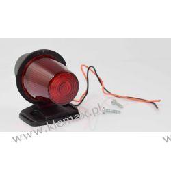 LAMPA OBRYSOWA RVI, VOLVO Z KABLEM L=250 CZERWONA, NA ŻARÓWKĘ 12/24V Lampy ostrzegawcze, koguty