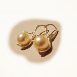 kolczyki srebrne z perłami Swarovskiego