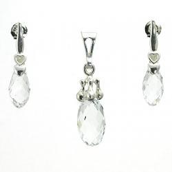komplet biżuterii brioletki crystal