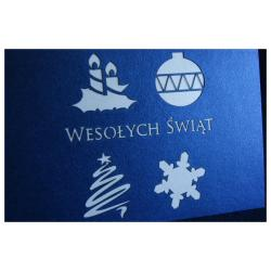 Kartki świąteczne, WYPRZ, LOGO+FV, LASER EKSPRES