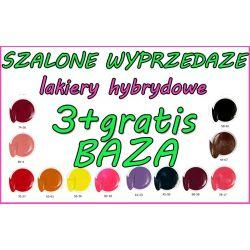 SZALONE WYPRZEDAŻE 3+ baza GRATIS Lakier Hybrydowy