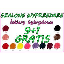 SZALONE WYPRZEDAŻE 9 + 1 GRATIS Lakier Hybrydowy