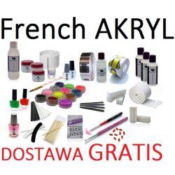 z6 ZESTAW do FRENCH XXL * 3x AKRYL+ LIQUID + FORMY