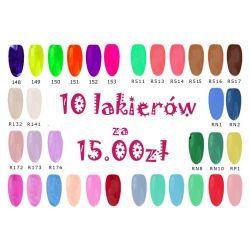 10 lakierów 15zł Lakiery Do Paznokci 200 kolorów