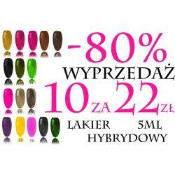-80% 10szt za 22zł Lakier Hybrydowy słoiczek 5ml