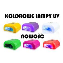 NEW* KOLOROWA LAMPA UV 36 WAT żel lakier hybrydowy