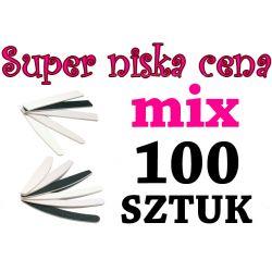 100szt MIX Pilnik zebra banan prosty szerok OKAZJA