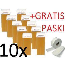 depilacja 10x WOSK MIODOWY MOCNY + 50 PASKI GRATIS