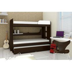 Łóżko piętrowe 3 osobowe Oval z materacami