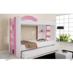 Łóżko piętrowe OVAL II 3 osobowe z materacami