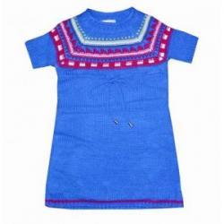 dziecięcy sweterek, tunika rozmiar 116 skandynawski wzorek