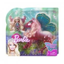 Lalka Barbie brokatowy konik z laleczką T5423
