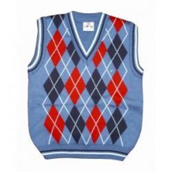 pulowerek chłopięcy, kamizelka, rozmiar 116
