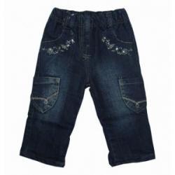 Spodnie ocieplane jeans dla dziewczynki rozmiar 74-80