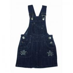 urocza sukienka jeansowa, ogrodniczka rozmiar 128