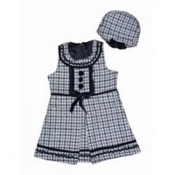 urocza sukienka pepitka z berecikiem rozmiar 128