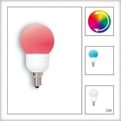 Żarówka LED Paulmann Globe 60 Multicolor (7 barw) 1W E14 28021