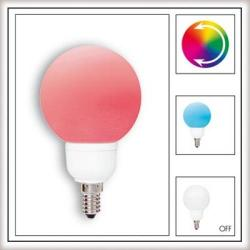 Żarówka LED Paulmann Globe 80 Multicolor (7 barw) 1W E14 28019