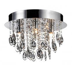 Plafon LampGustaf Loire 35cm czarny chrom 060171