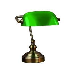 Lampa stołowa LampGustaf Bankers mała patyna/zielony 221722