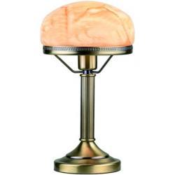Lampa stołowa LampGustaf Strindberg patyna klosz marmur 861932