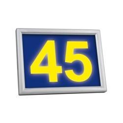 Podświetlany numer domu LED solarny Sowar LEDnumer żółty 9319-117-A