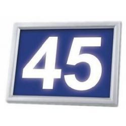 Podświetlany numer domu LED solarny Sowar LEDnumer niebieski 9319-116-A