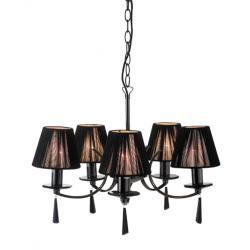 Lampa wisząca Markslojd Oslo czarny chrom 100123