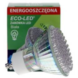 Żarówka 80 LED Eco-Led GU10 120st Biała 160lm