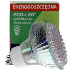 Żarówka 80 LED Eco-Led GU10 120st ciepła 140lm