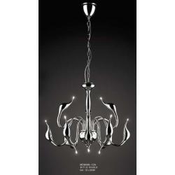 Lampa wisząca Italux Swan chrom MD8098-12A