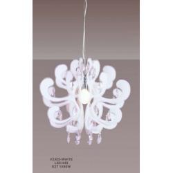 Lampa wisząca Italux Emporio biała V2305