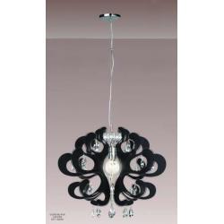 Lampa wisząca Italux Emporio czarna V2305