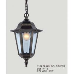 Lampa ogrodowa wisząca Italux Siena 1x100W black-gold