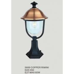 Lampa ogrodowa stojąca Italux Rimini 1x60W copper
