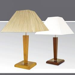 Lampa stołowa drewniana ze ściemniaczem K-MT6807