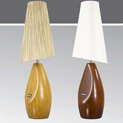 Lampa stołowa drewniana ze ściemniaczem K-MT68109