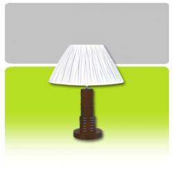 Lampa stołowa drewniana K-MT6811