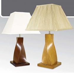 Lampa stołowa drewniana ze ściemniaczem K-MT68116