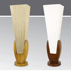 Lampa stołowa drewniana ze ściemniaczem K-MT68126