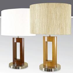 Lampa stołowa drewniana ze ściemniaczem K-MT68198