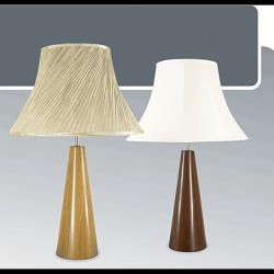 Lampa stołowa drewniana ze ściemniaczem K-MT68314